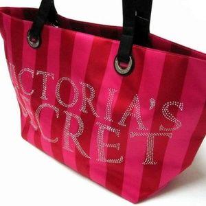 VICTORIA'S SECRET SATIN EMBELLISHED RHINESTONE BAG